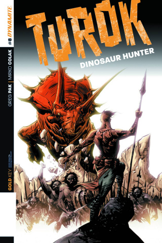 Turok: Dinosaur Hunter #8 (Lee Subscription Cover)