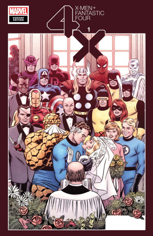 X-Men + Fantastic Four #1 (Hidden Gem Cover)