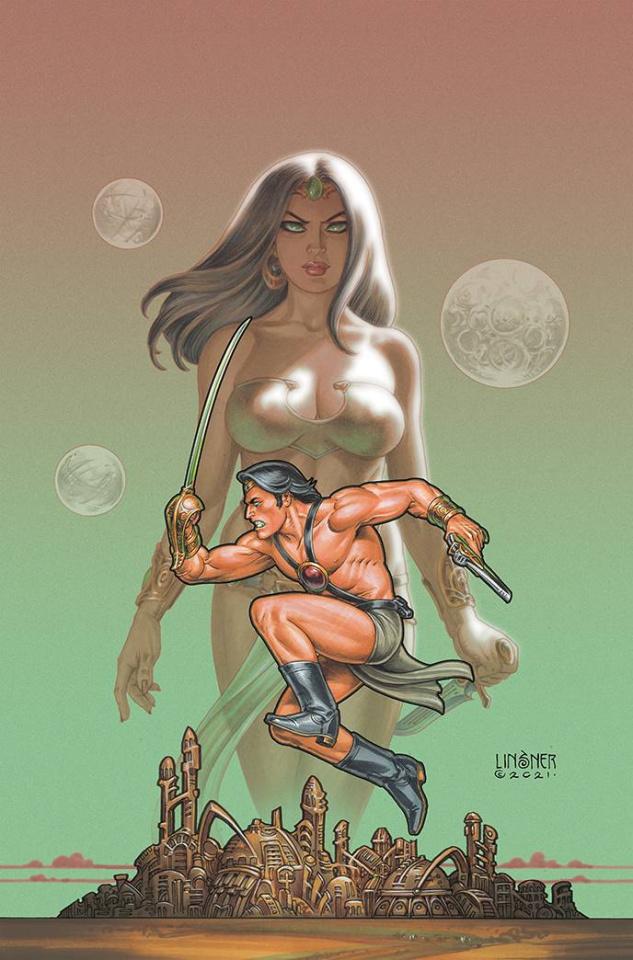 Dejah Thoris vs. John Carter Of Mars #1 (Linsner Virgin Cover)