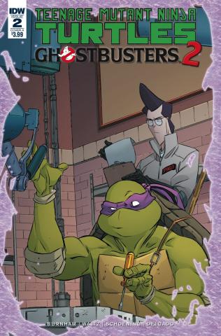 Teenage Mutant Ninja Turtles / Ghostbusters 2 #2 (Schoening Cover)