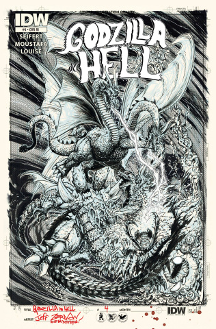 Godzilla in Hell #4 (10 Copy Cover)