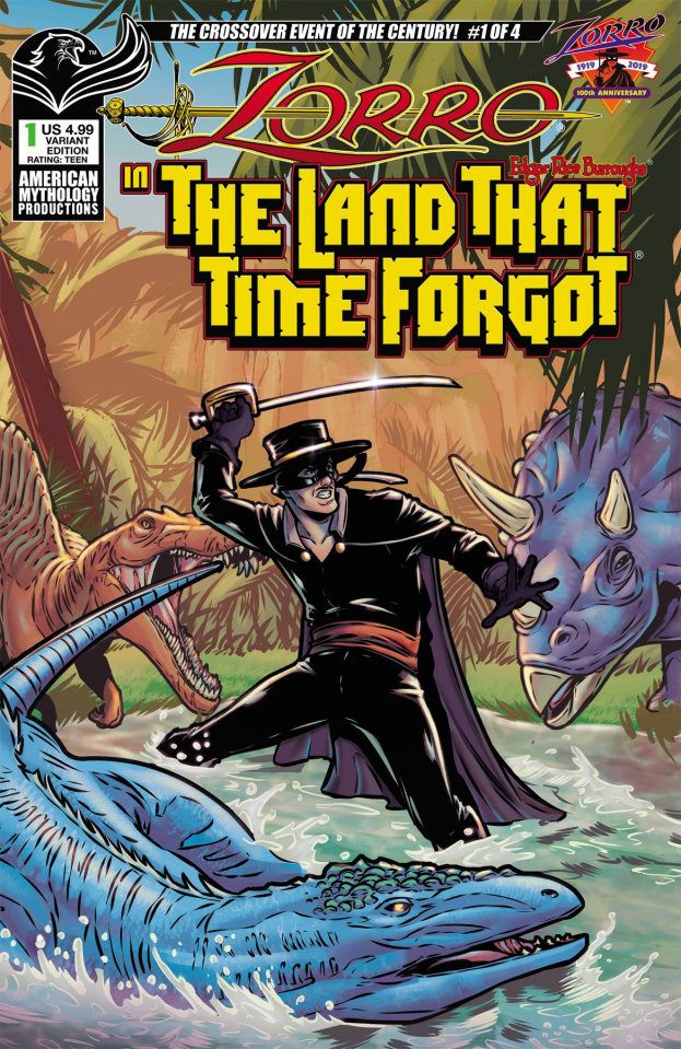 Zorro in the Land That Time Forgot #1 (Puglia Cover)