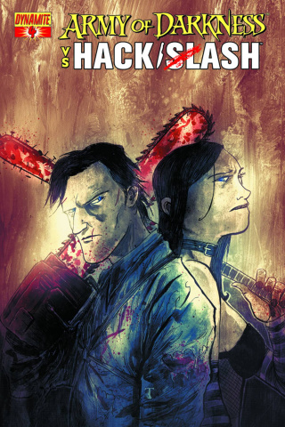 Army of Darkness vs. Hack/Slash #4 (Templesmith Cover)