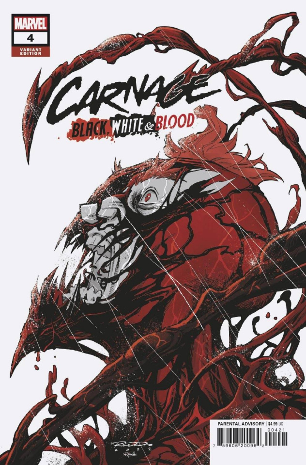 Carnage: Black, White, and Blood #4 (Randolph Cover)