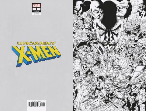 Uncanny X-Men #1 (Quesada B&W Hidden Gem Cover)