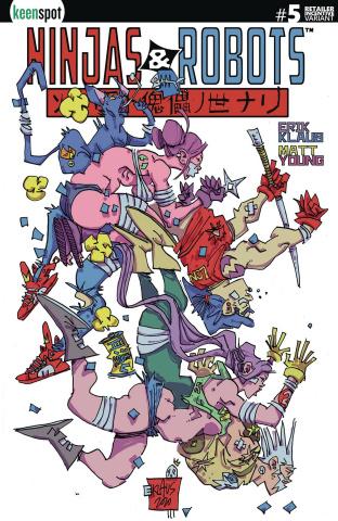 Ninjas & Robots #5 (5 Copy Klaus Cover)