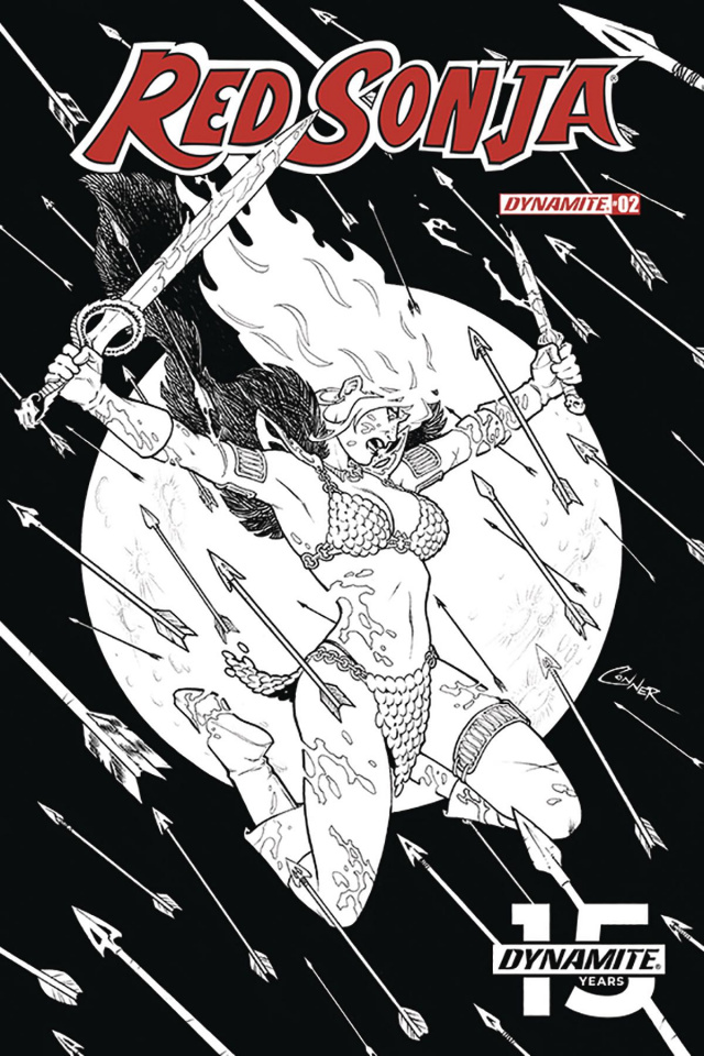 Red Sonja #2 (20 Copy Conner B&W Cover)