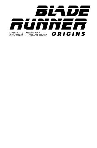 Blade Runner: Origins #1 (Blank Sketch Cover)