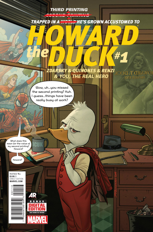 Howard the Duck #1 (Quinones 3rd Printing)