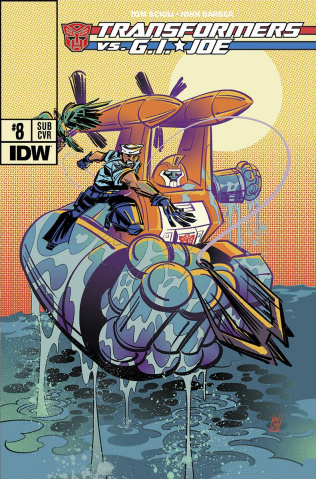 Transformers vs. G.I. Joe #8 (Subscription Cover)