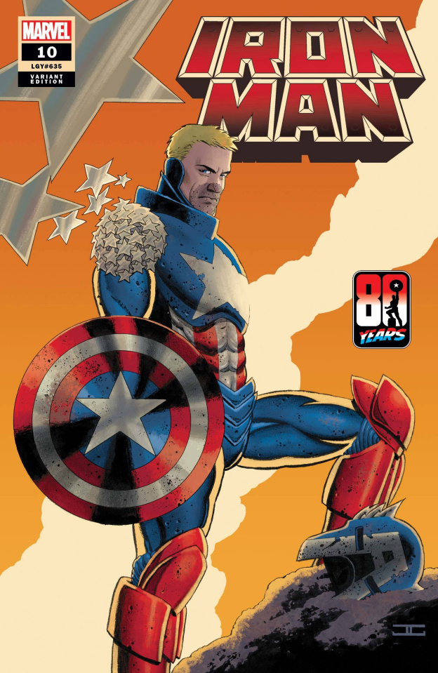 Iron Man #10 (Cassaday Captain America 80th Anniversary Cover)