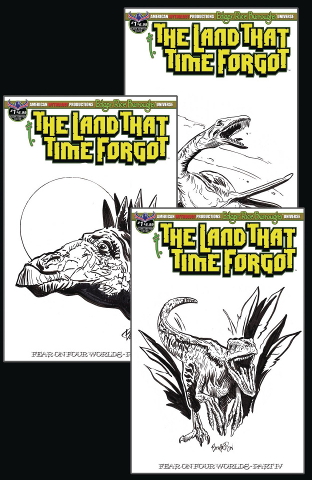 The Land That Time Forgot #1 (Fear On Four Worlds Dino Sketch Cover)