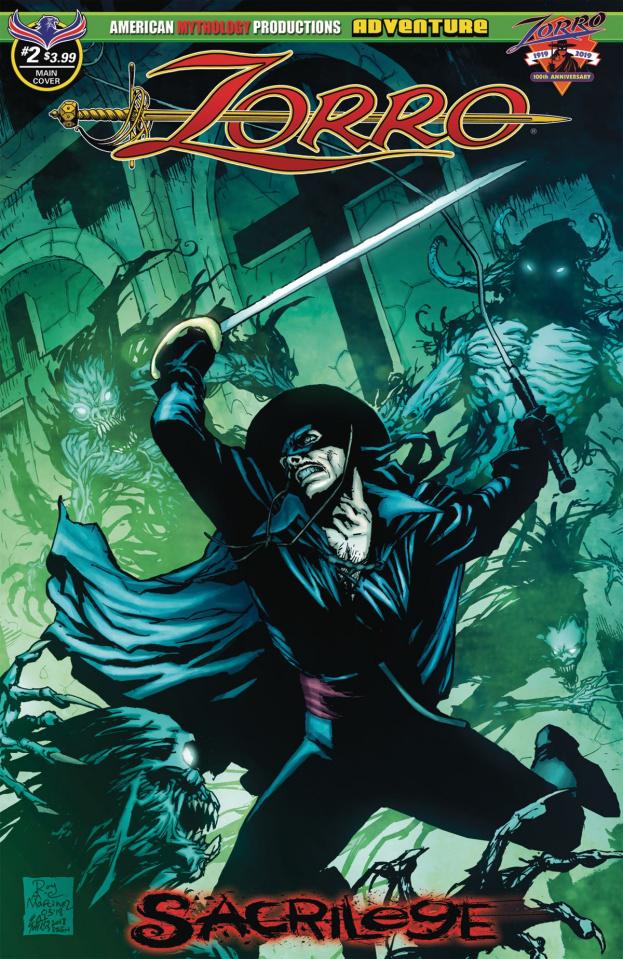 Zorro: Sacrilege #2 (Martinez Cover)