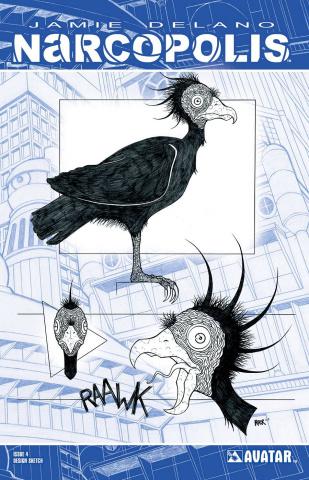 Narcopolis #4 (Design Sketch Cover)