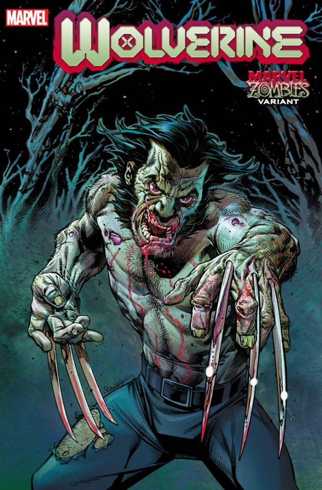 Wolverine #3 (Raney Marvel Zombies Cover)