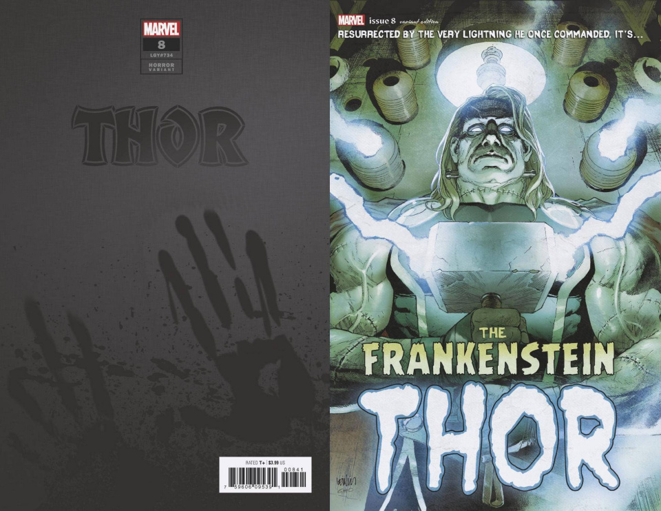Thor #8 (Frankensteins Thor Horror Cover)