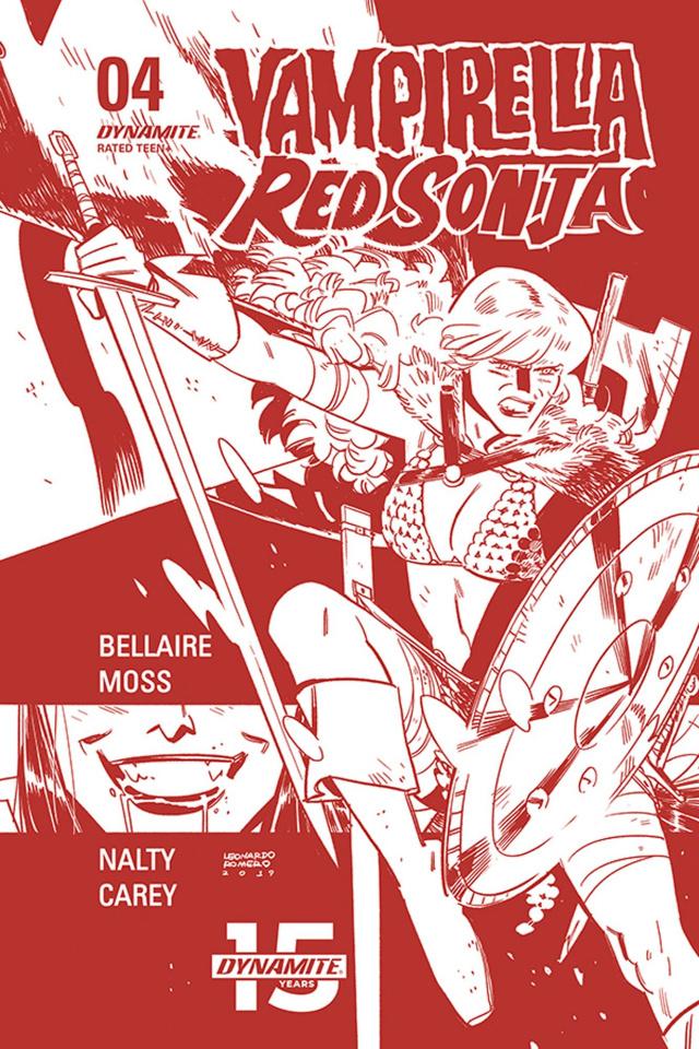 Vampirella / Red Sonja #4 (21 Copy Romero Tint Cover)