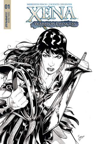 Xena #1 (20 Copy Cifuentes B&W Cover)