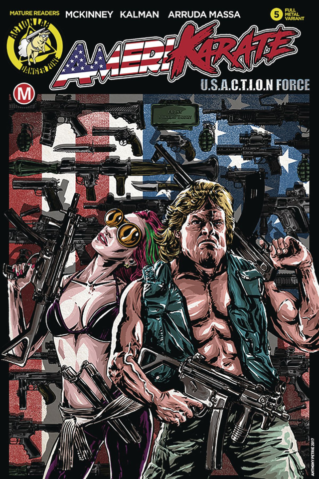 Amerikarate #5 (Petrie Action Cover)