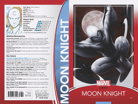Moon Knight #188 (Christopher Trading Card Cover)