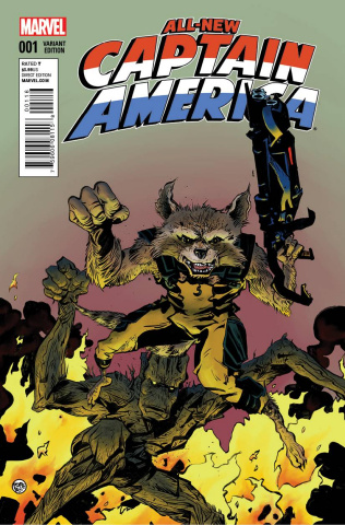 All-New Captain America #1 (Rocket Raccoon & Groot Cover)