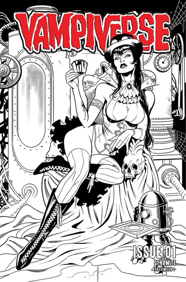 Vampiverse #1 (25 Copy Sanapo Line Art Cover)