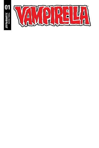 Vampirella #1 (Blank Authentix Cover)