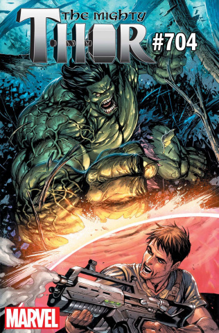 The Mighty Thor #704 (Hulk Cover)