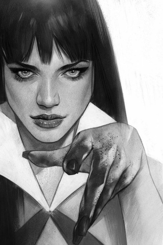 Vengeance of Vampirella #2 (21 Copy Oliver B&W Virgin Cover)