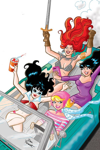 Red Sonja and Vampirella Meet Betty and Veronica #4 (40 Copy Parent Virgin Cover)