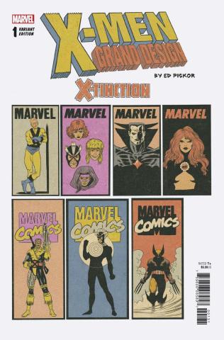 X-Men: Grand Design - X-Tinction #1 (Piskor Corner Box Cover)
