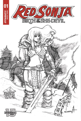 Red Sonja: Birth of the She Devil #1 (20 Copy Davila B&W Cover)
