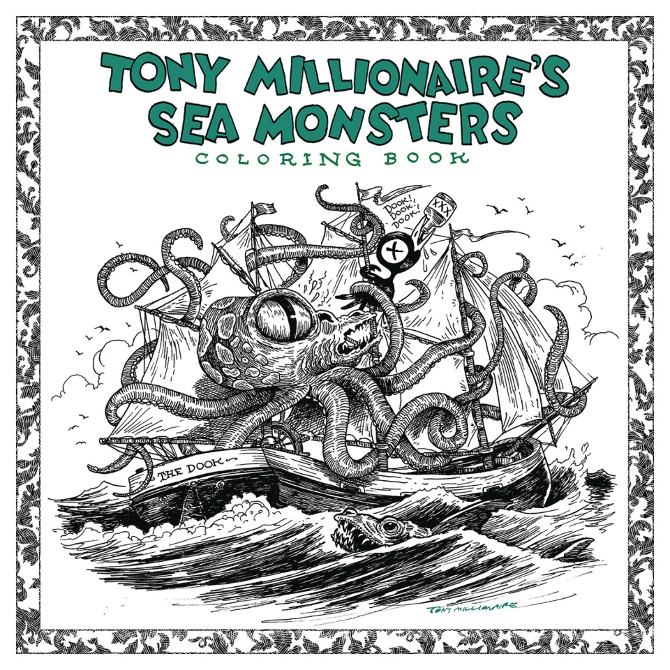 Tony Millionaire's Sea Monster Coloring Book