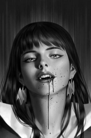 Vampirella: The Dark Powers #4 (45 Copy Yoon B&W Virgin Cover)