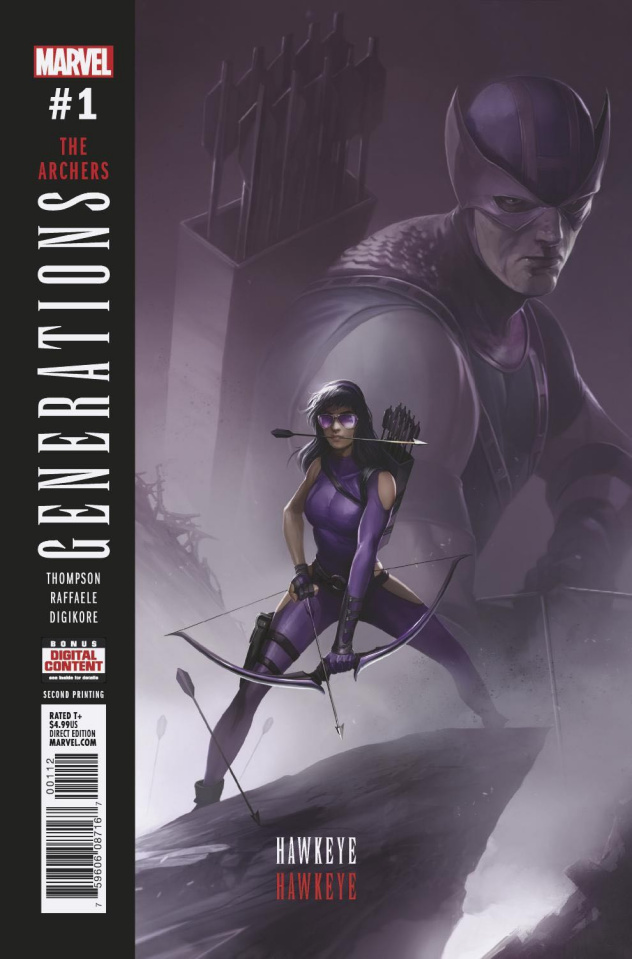 Generations: Hawkeye & Hawkeye #1 (Mattina 2nd Printing)