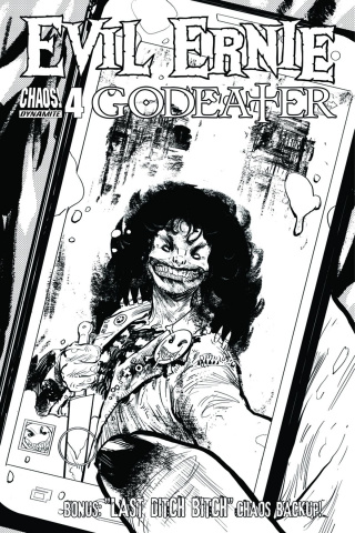Evil Ernie: Godeater #4 (10 Copy B&W Cover)