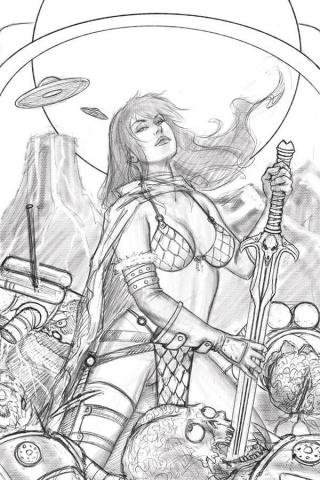 Mars Attacks / Red Sonja #1 (7 Copy Strati Sketch Virgin Cover)