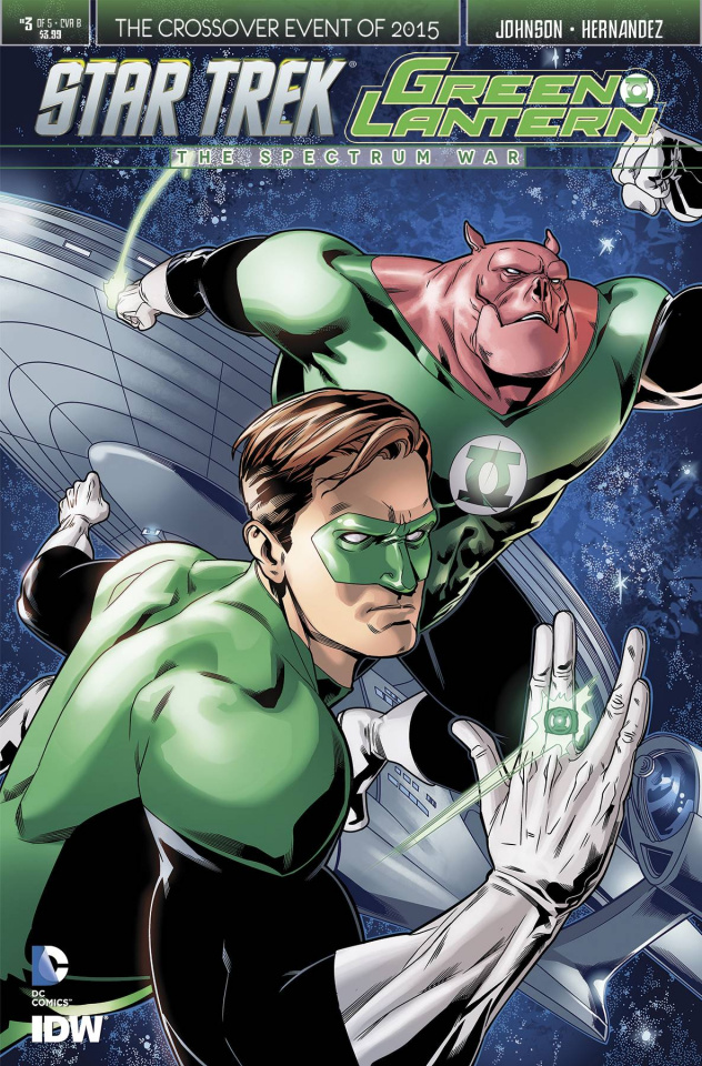 Star Trek / Green Lantern #3 (Stott Cover)