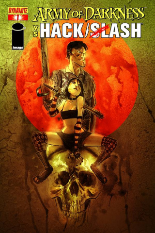 Army of Darkness vs. Hack/Slash #1 (Templesmith Cover)