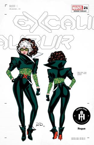 Excalibur #21 (Dauterman Rogue Design Cover)