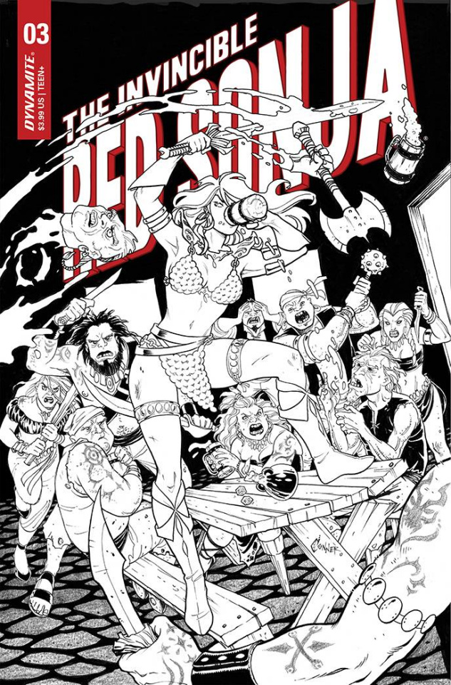 The Invincible Red Sonja #3 (15 Copy Conner Line Art Cover)