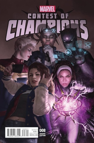 Contest of Champions #8 (Rahzzah Cover)