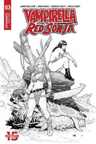 Vampirella / Red Sonja #3 (20 Copy Cho Pure Line Art Cover)