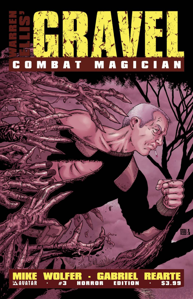 Gravel: Combat Magician #3 (Horror Cover)