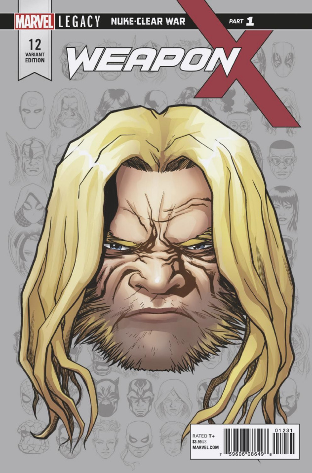 Weapon X #12 (McKone Legacy Headshot Cover)