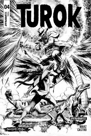 Turok #4 (10 Copy Morales B&W Cover)