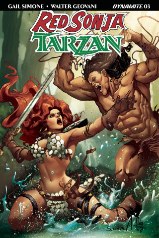 Red Sonja / Tarzan #3 (Davila Cover)