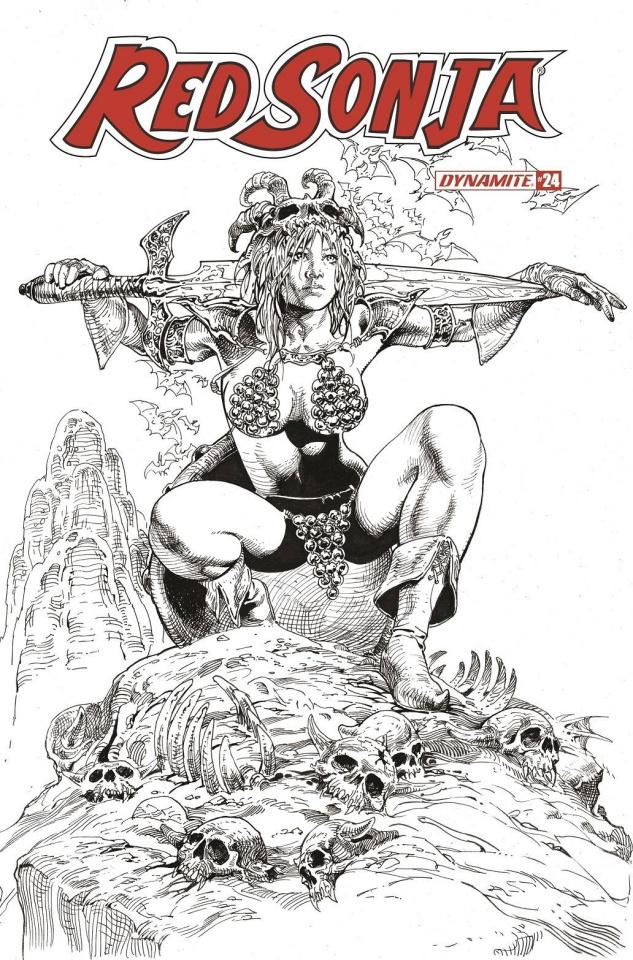Red Sonja #24 (11 Copy Castro B&W Cover)
