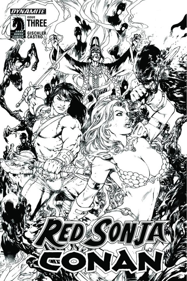 Red Sonja / Conan #3 (15 Copy Benes B&W Cover)