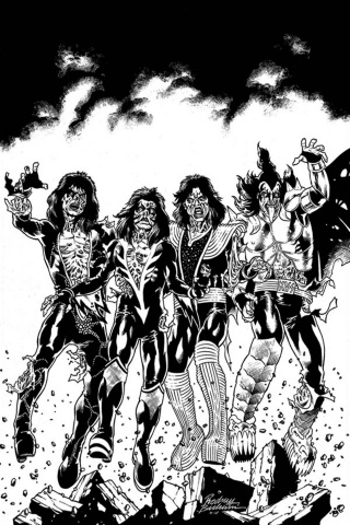 KISS: Zombies #1 (21 Copy Buchemi B&W Virgin Cover)